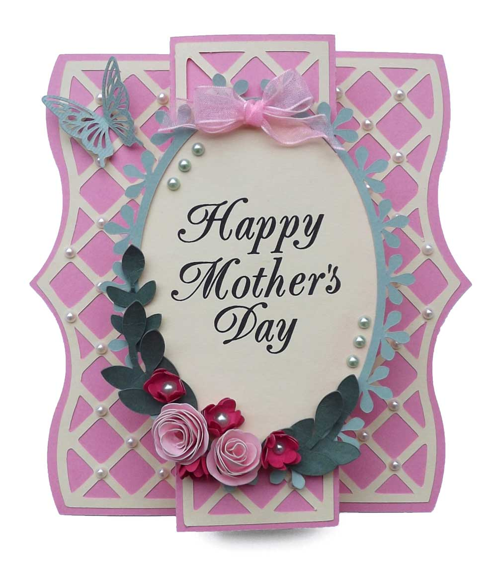 Elegant cards week lattice overlay mother 39 s day card for Classy mothers day cards