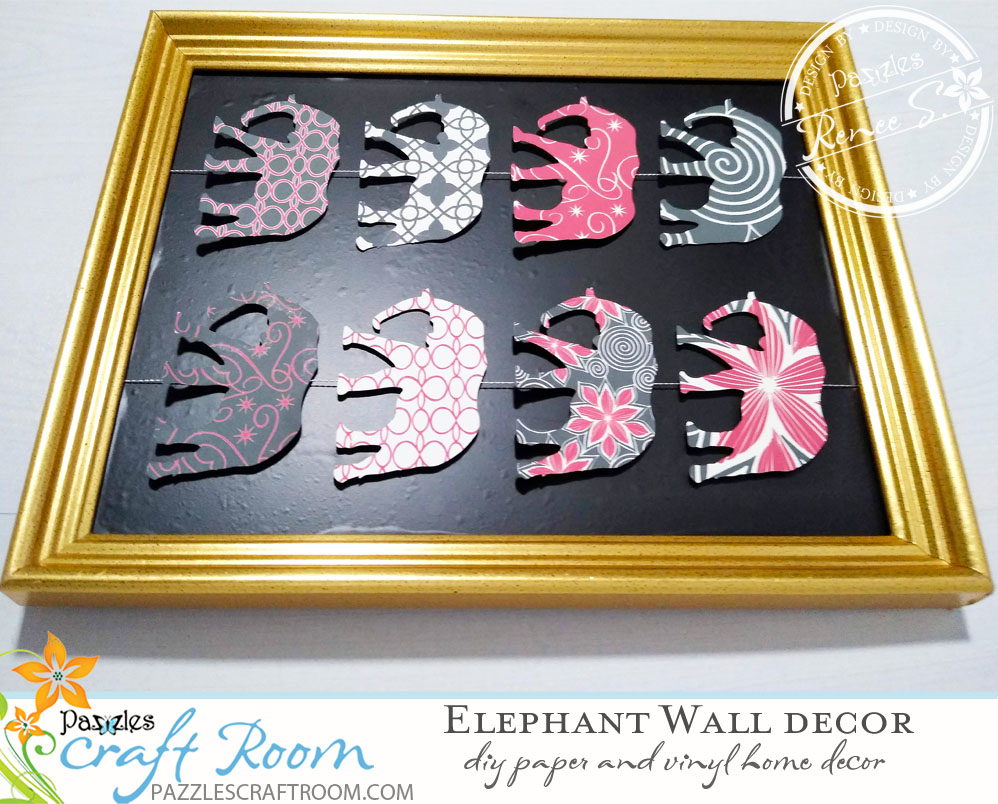 Pazzles DIY Home Decor Elephant Wall Hanging by Renee Smart