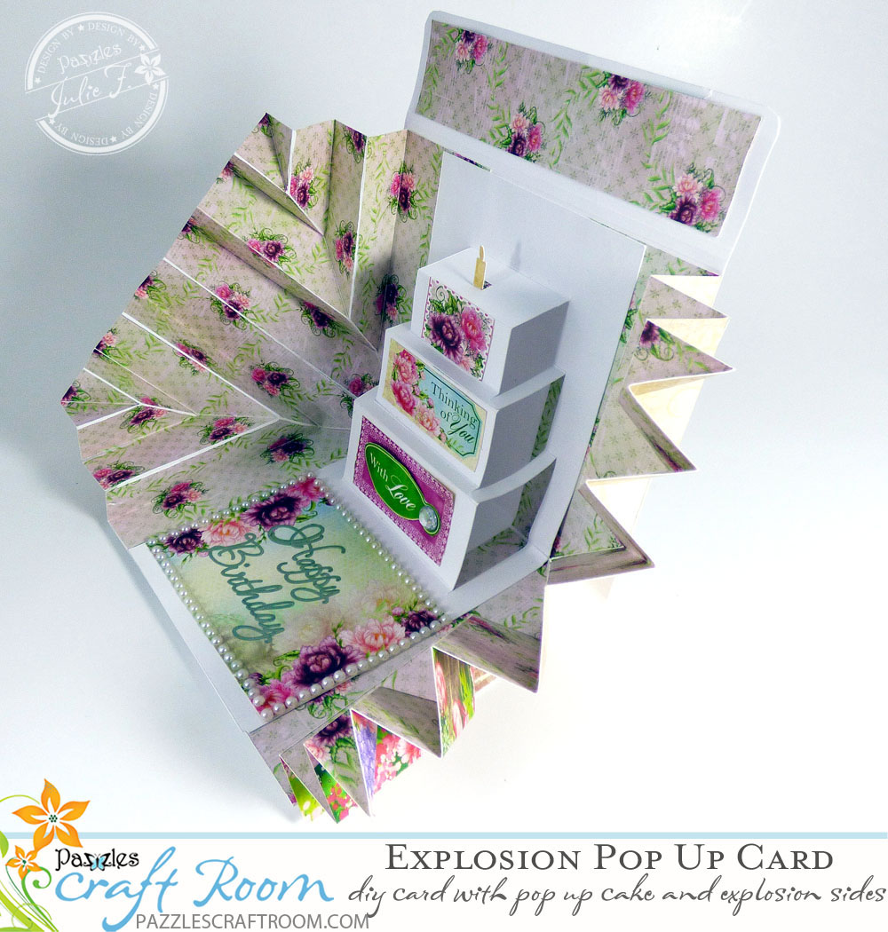azzles DIY Birthday Explosion Pop Up Card by Julie Flanagan