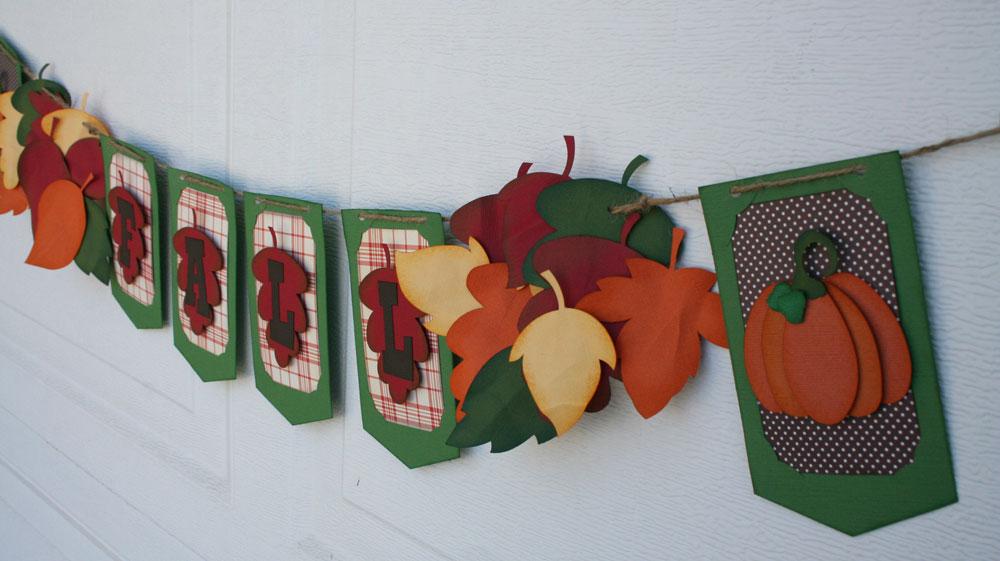 Fall Leaf Banner DIY Project