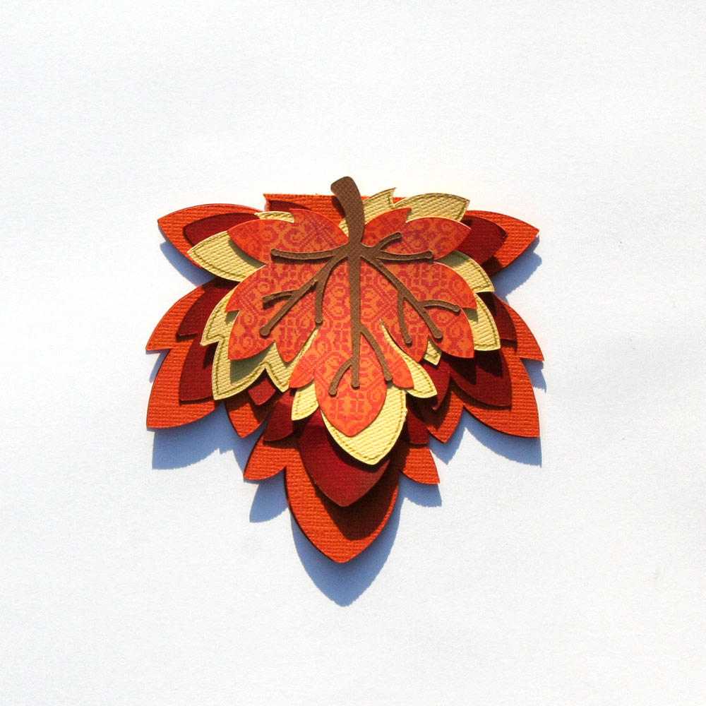 Leaf Shaped Card from Pazzles