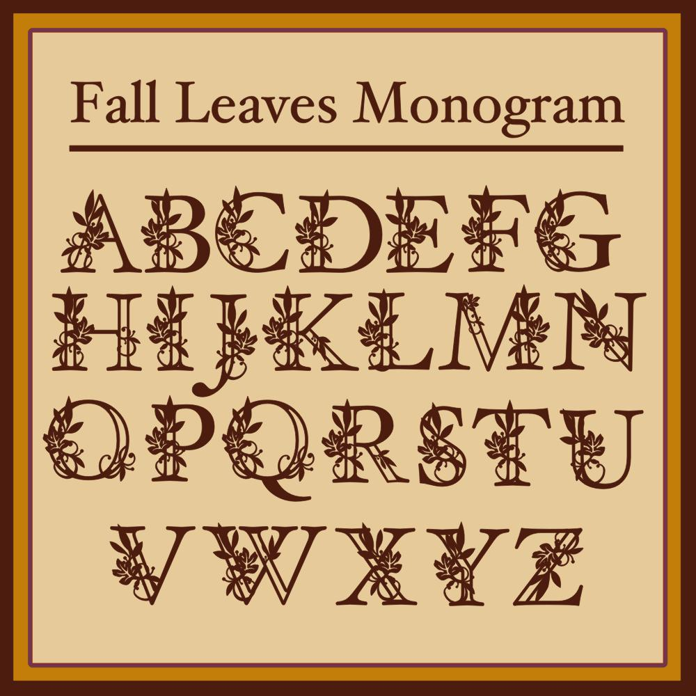 Fall Leaves Monogram