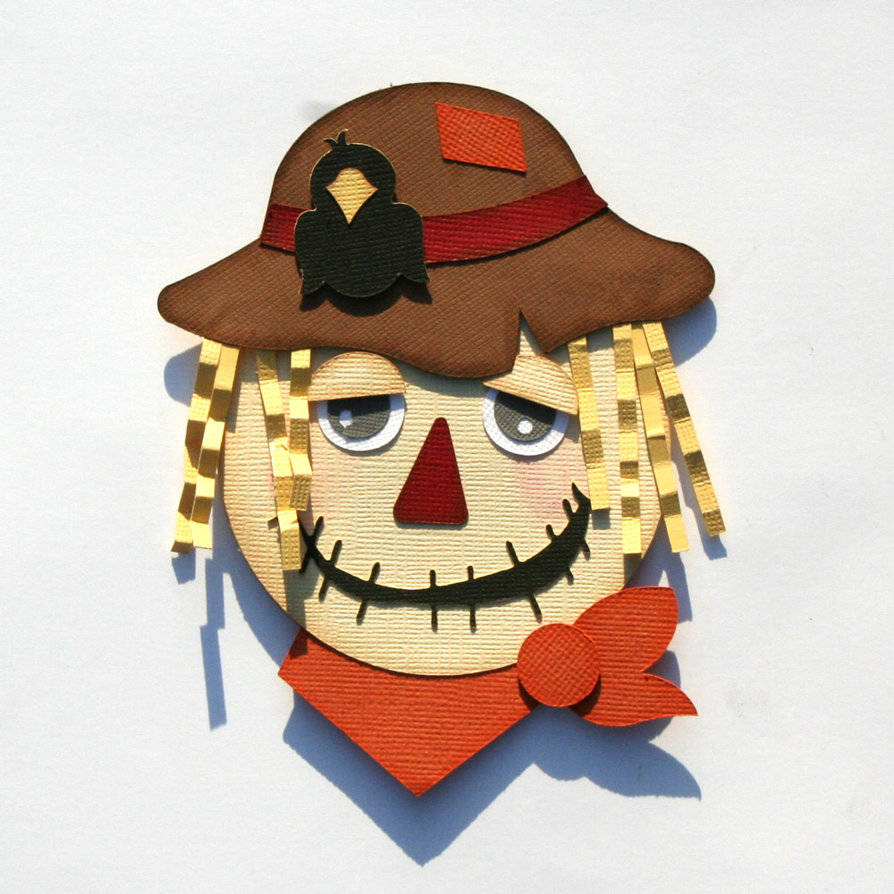 Scarecrow Shaped Card