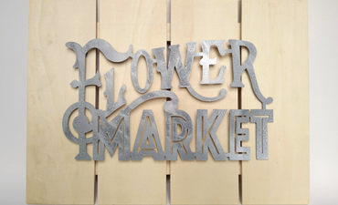 Faux Metal Market Sign