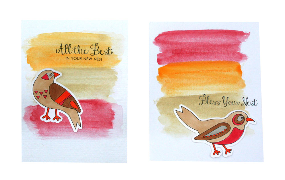 Feathered Folks Print and Cut Cards