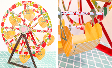 Pazzles DIY Interactive Ferris Wheel with instant SVG download. Compatible with all major electronic cutters including Pazzles Inspiration, Cricut, and Silhouette Cameo. Design by Monica Martinez.