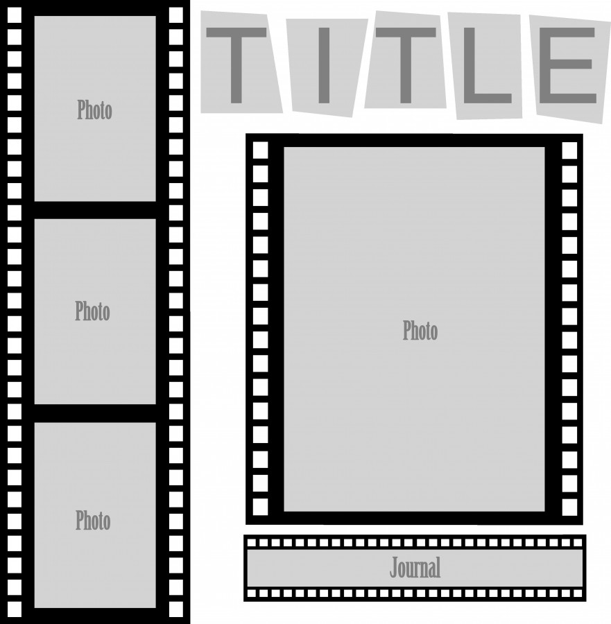 film strip picture template - cut and paste sketch film strip layout pazzles craft room