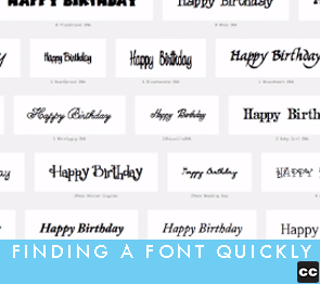 Finding A Font Quickly