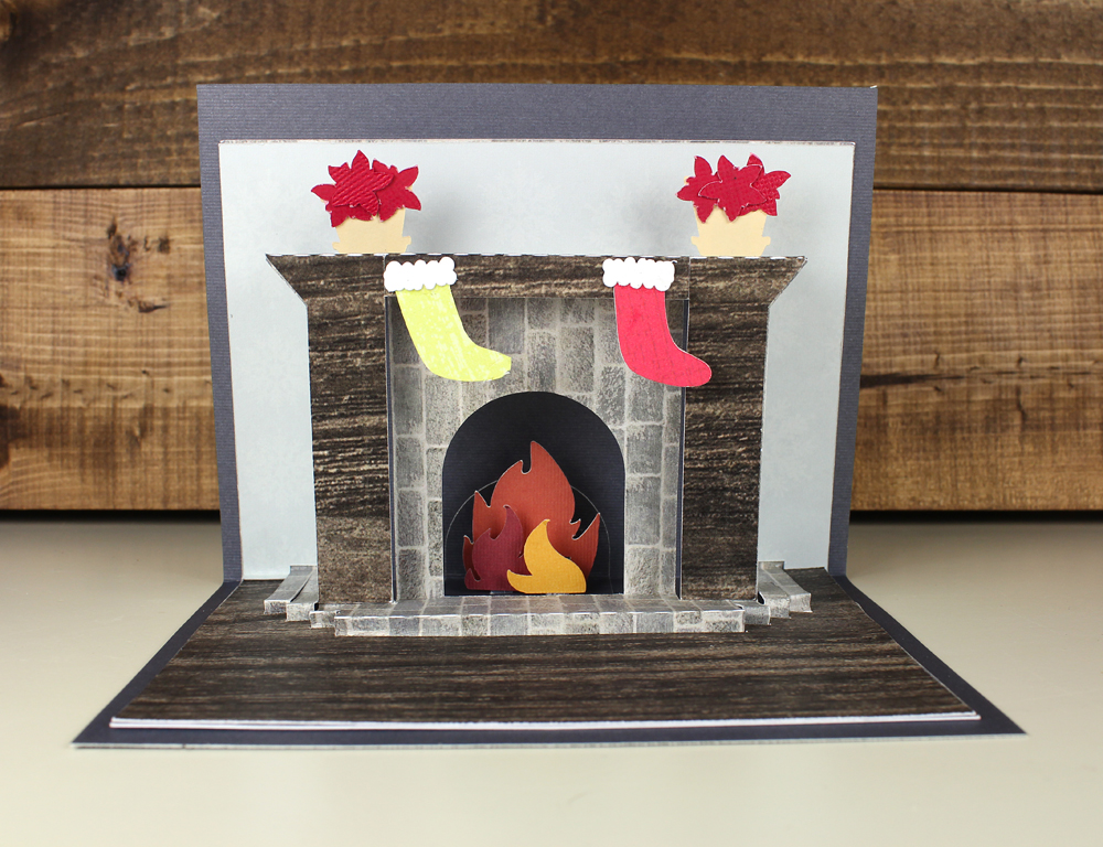 Fireplace Pop Up Card