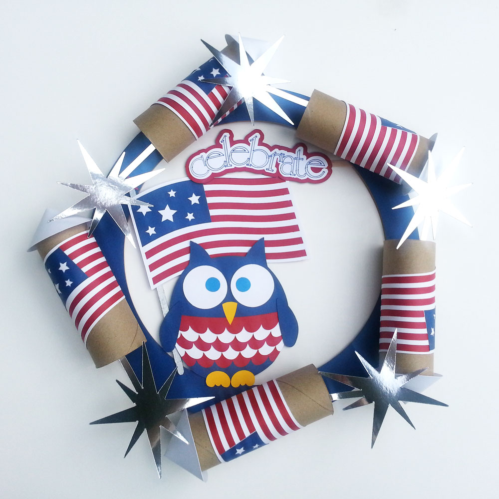 Flag Day Paper Wreath