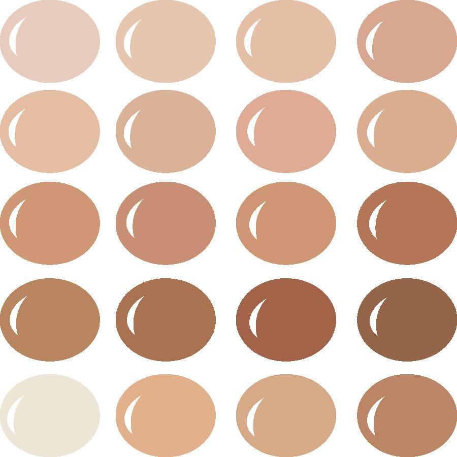InVue Color Palette: Flesh Tones 1