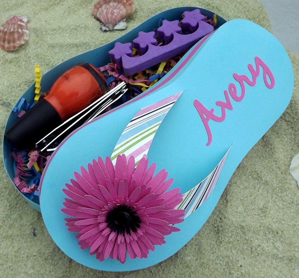 Flip flop gift box