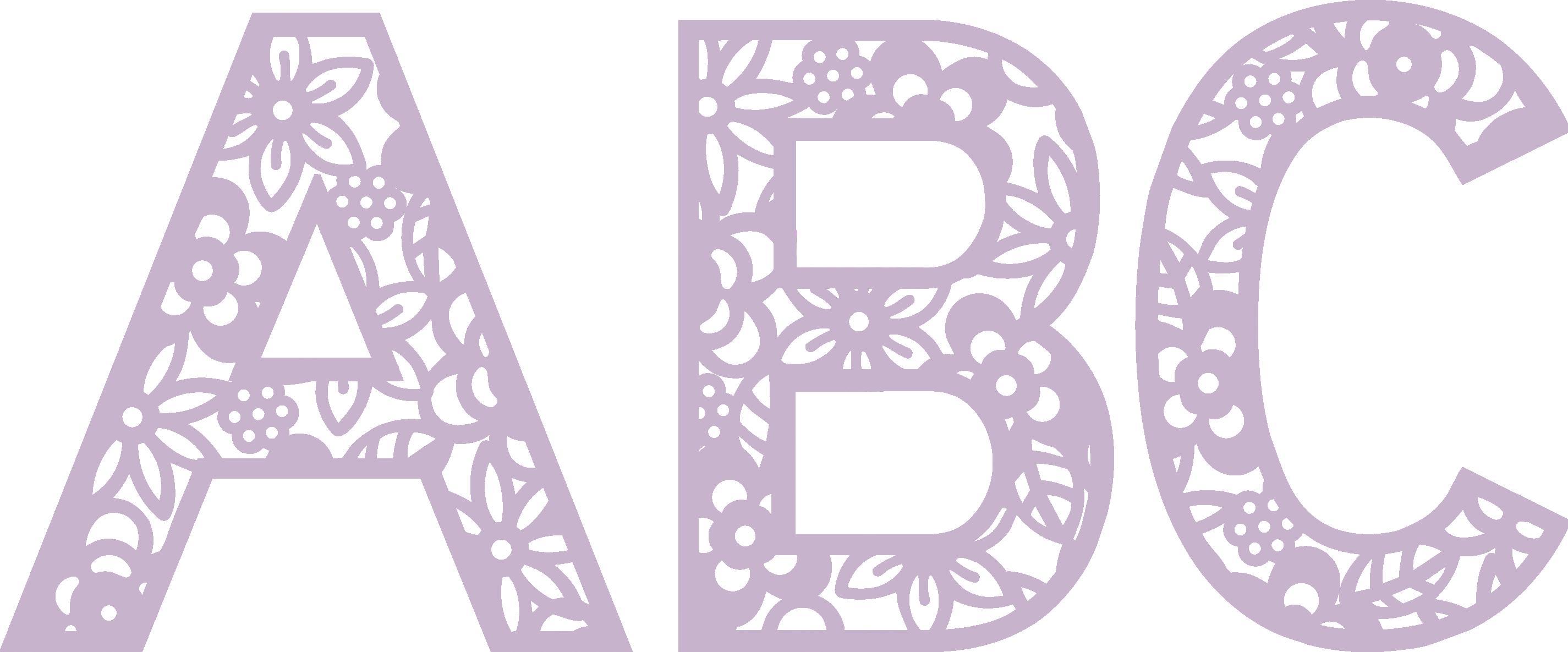 Floral Monogram Font