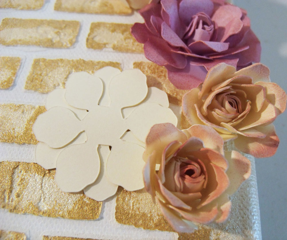 DIY paper flowers with airbrushing
