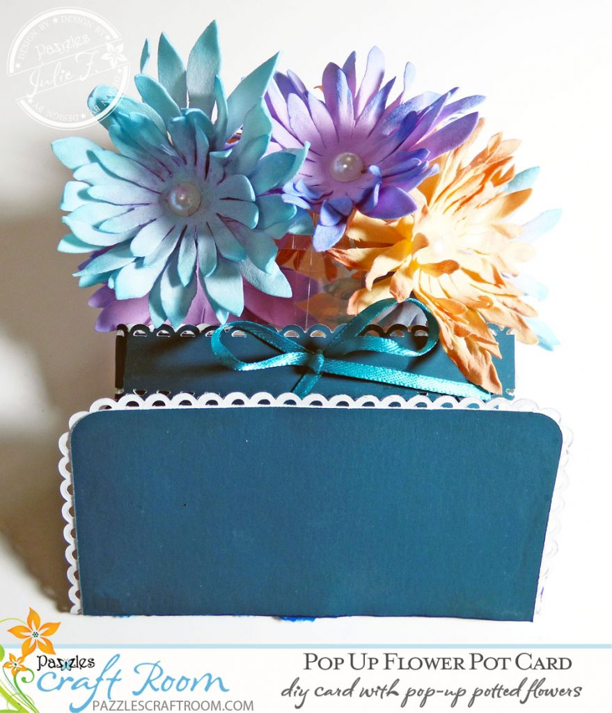 Pazzles Get Well DIY Pop Up Flower Pot Card by Julie Flanagan