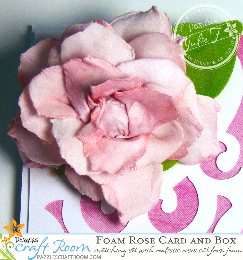 Pazzles DIY Foam Rose Card and Gift Box Set by Julie Flanagan