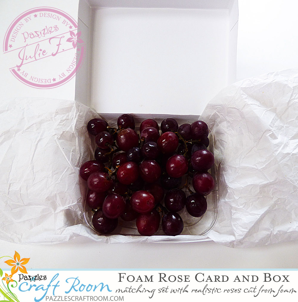 Pazzles DIY Foam Rose Card and Gift Box Set by Julie Flanagan