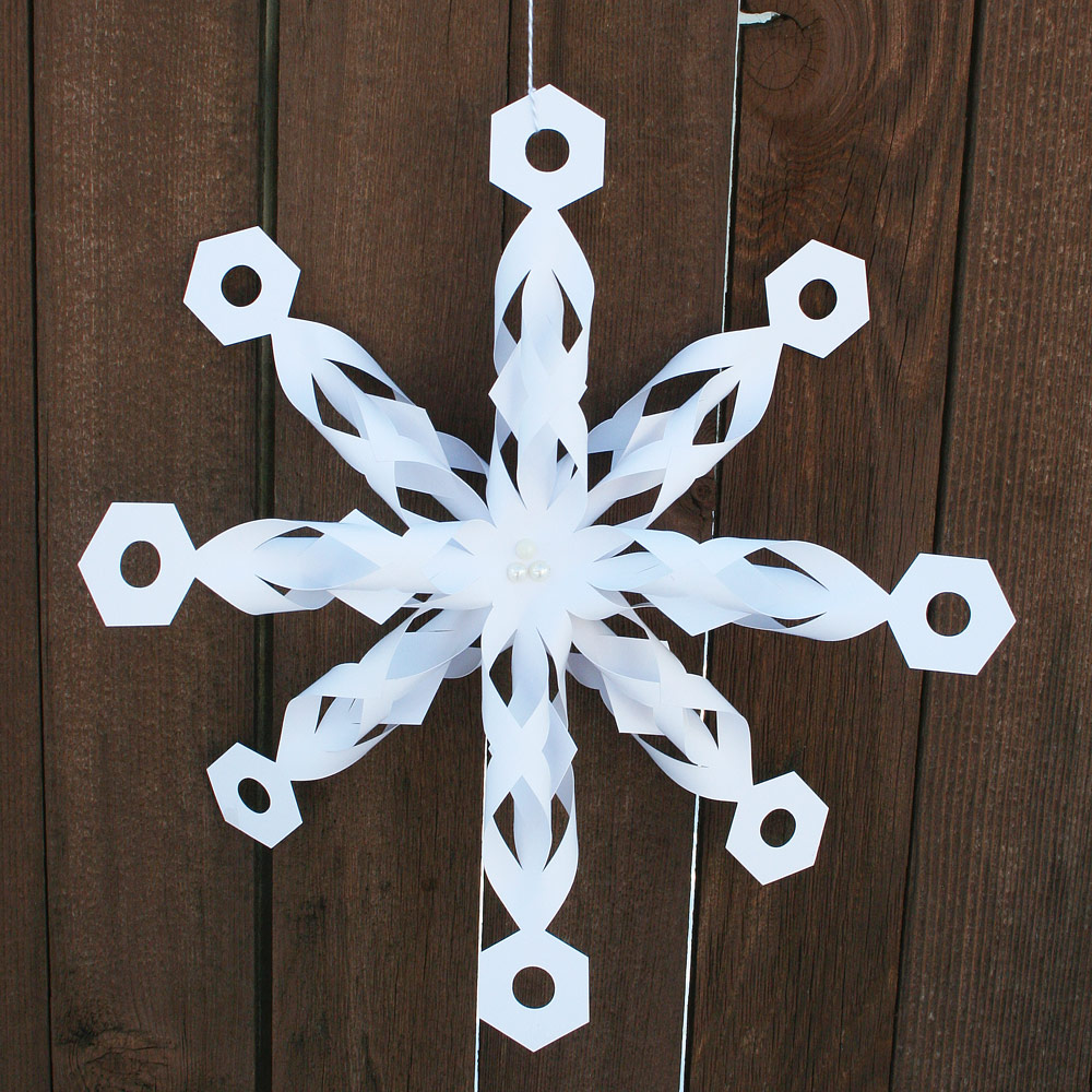 Folded Dimensional Paper Snowflake