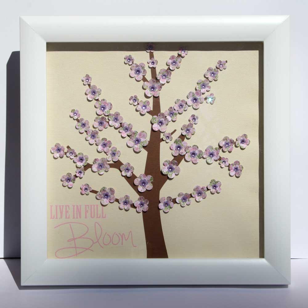 Framed Cherry Blossom Paper Tree