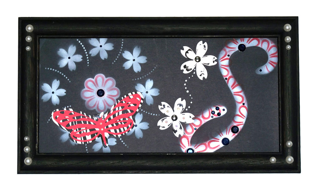 Framed Stencil Art with Airbrushing