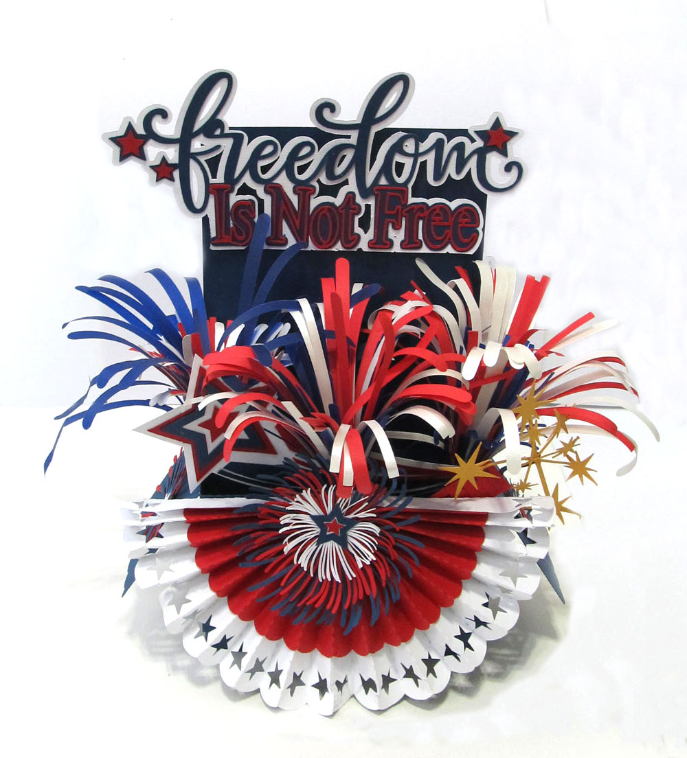 Freedom Centerpiece Exploding Box Card
