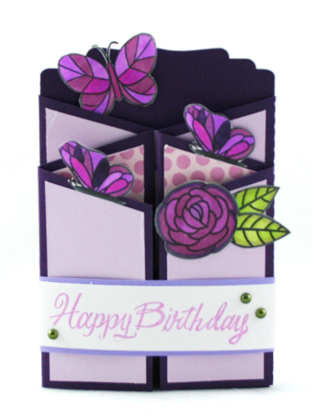 Fun Folds Gate Fold Birthday Card