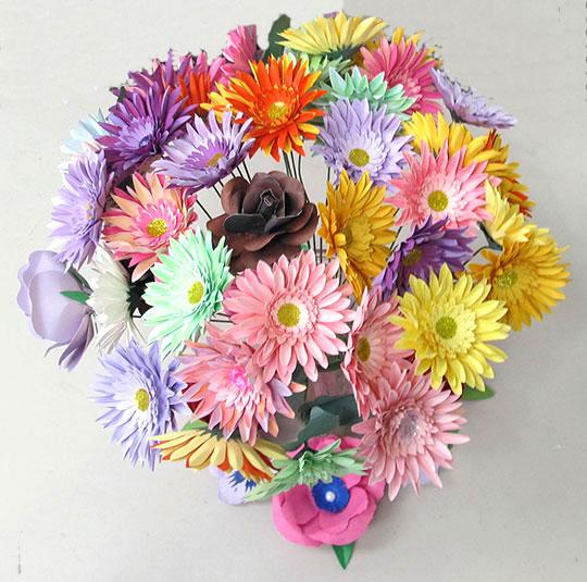 Gerbera Daisy Paper Bouquet