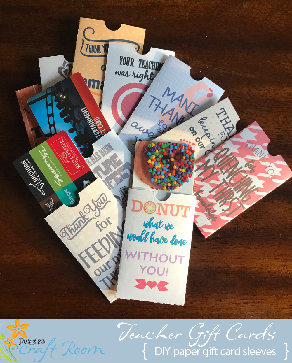 Thank You Teacher Gift Card Collection Pazzles Craft Room