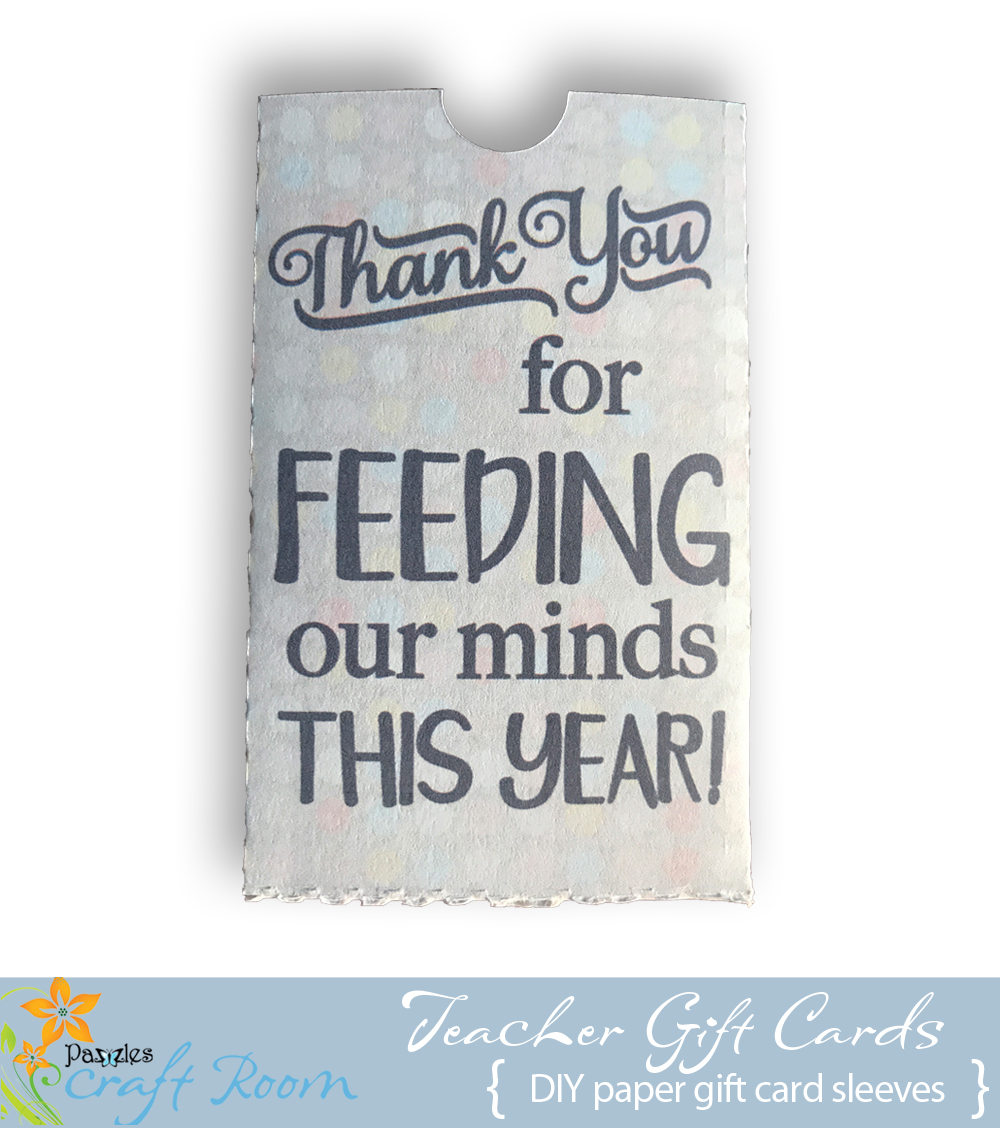 Thank You Teacher Gift Card Collection - Pazzles Craft Room