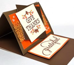 Pazzles DIY Give Thanks Easel Card with instant SVG download. Compatible with all major electronic cutters including Pazzles Inspiration, Cricut, and Silhouette Cameo. Design by Renee Smart.