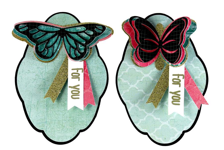 Glitter Butterfly Tags