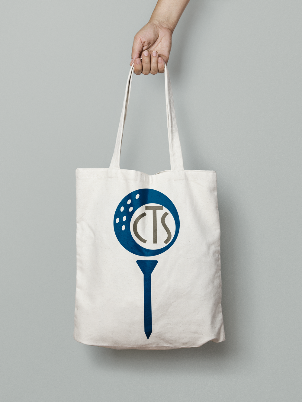 Golf Monogram on Canvas Tote