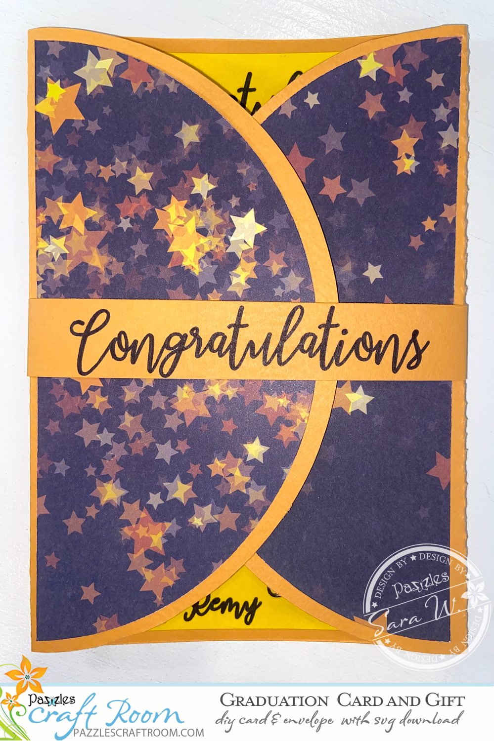 Pazzles DIY Graduation Card and Gift with instant SVG download. Instant SVG download compatible with all major electronic cutters including Pazzles Inspiration, Cricut, and Silhouette Cameo. Design by Sara Weber.