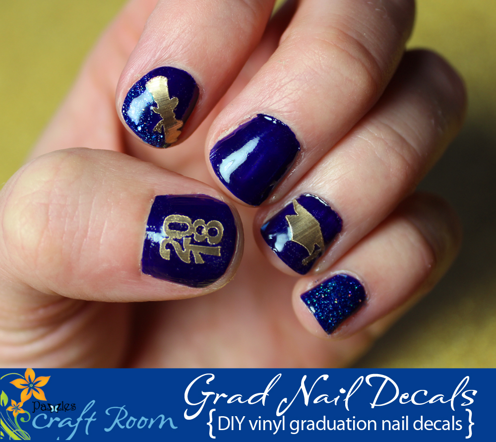 Easy Graduation Nail Decals - Pazzles Craft Room