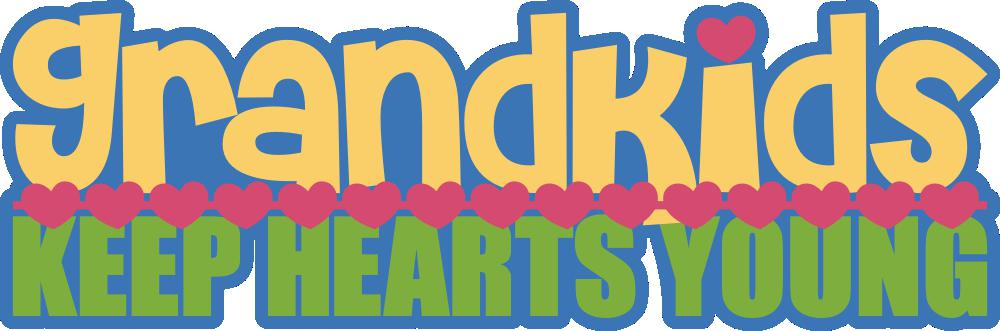 Grandkids Keep Hearts Young Free Cut File