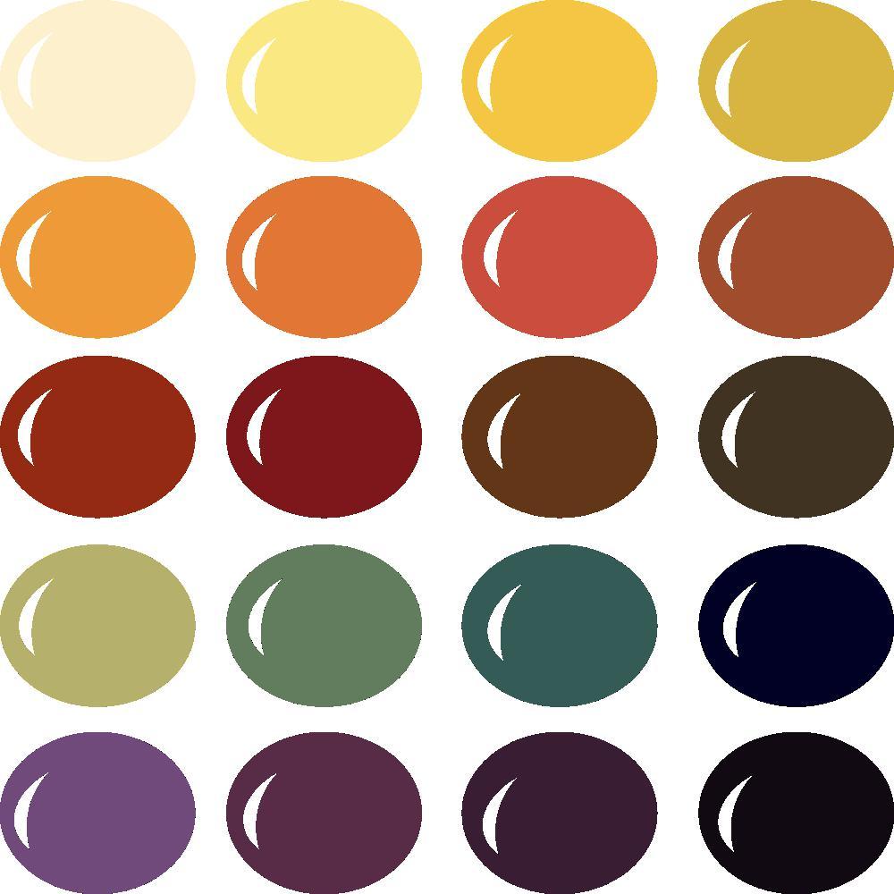 InVue Color Palette: Halloween
