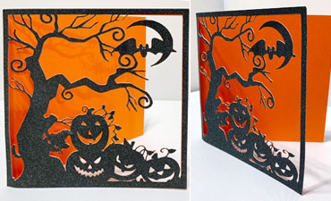 Pazzles DIY Halloween Card by Lisa Reyna