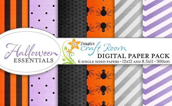 Pazzles Halloween Essentials digital paper pack with instant download.