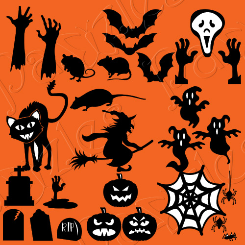 Halloween Window Silhouettes Cutting Collection Pazzles