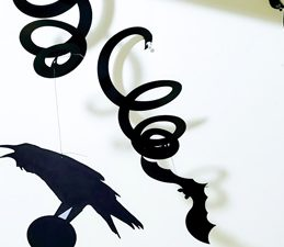 Pazzles DIY Halloween Spiral Streamers with instant SVG download. Compatible with all major electronic cutters including Pazzles Inspiration, Cricut, and Silhouette Cameo. Design by Renee Smart.