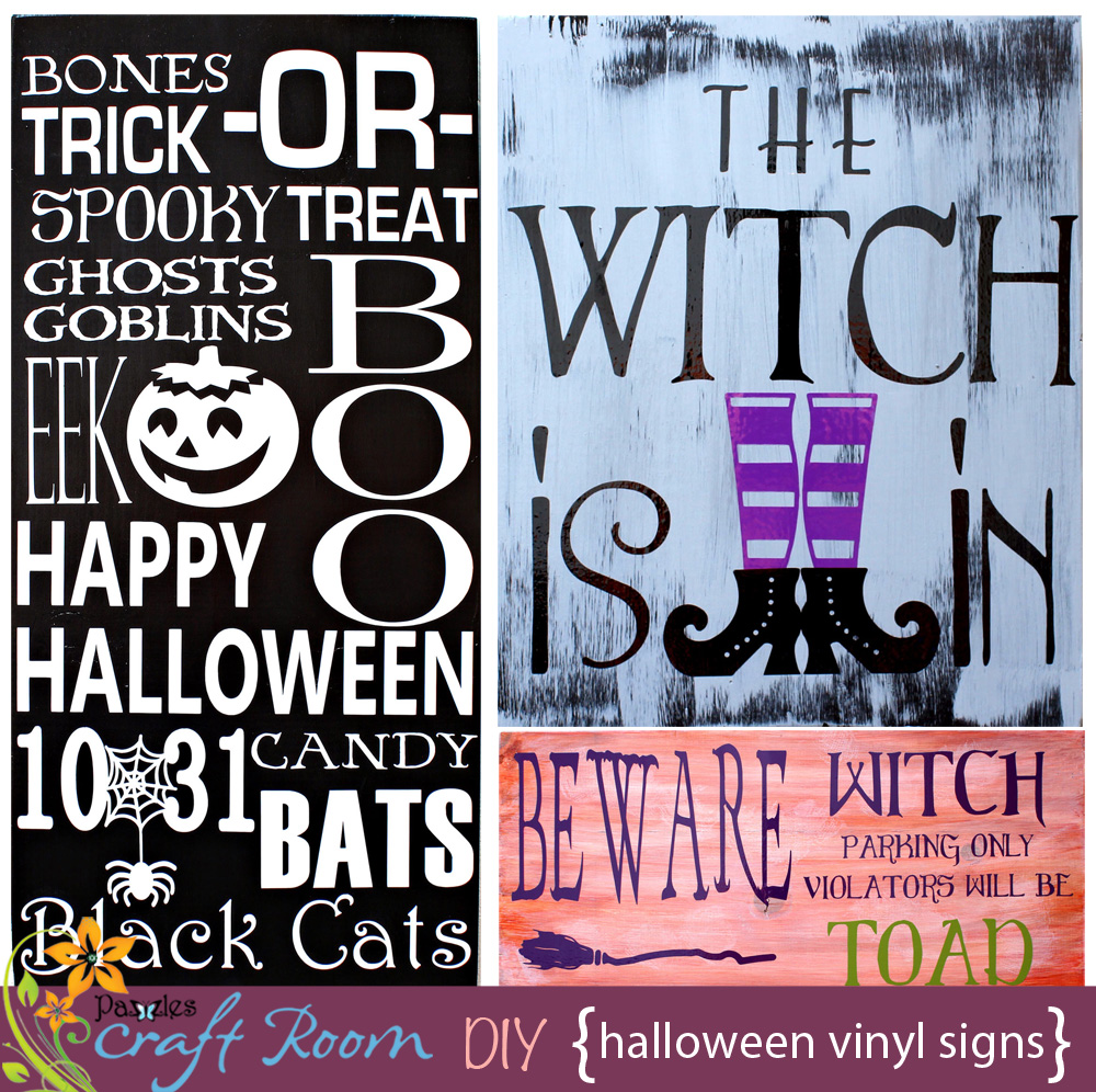 halloween vinyl wall signs - pazzles craft room