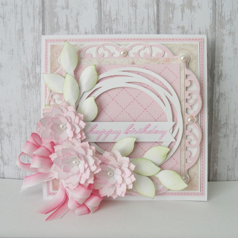 happy birthday floral card  pazzles craft room