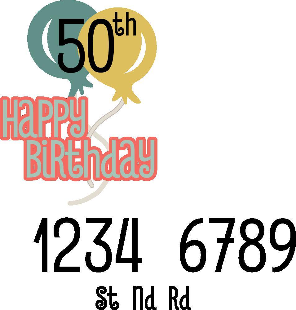 Happy Birthday Title Free Cut File