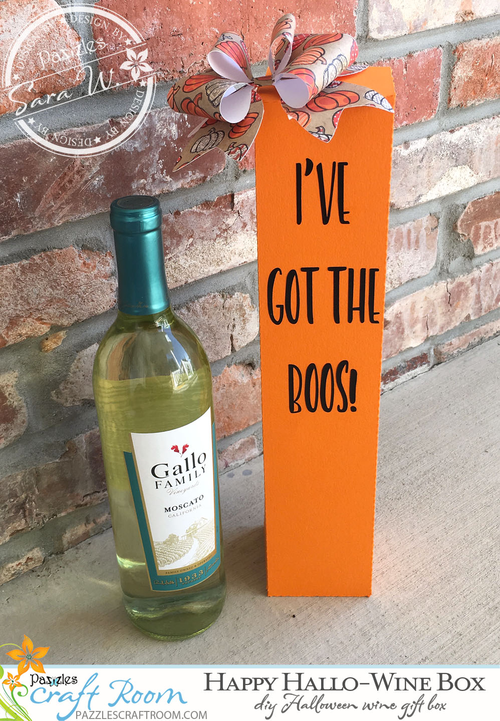 Pazzles DIY Halloween Wine Gift Box by Sara Weber