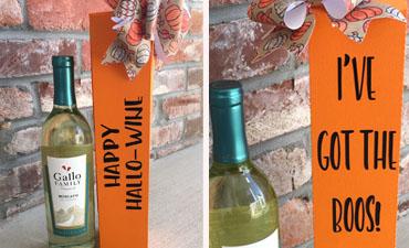 Pazzles DIY Halloween Wine Box by Sara Weber