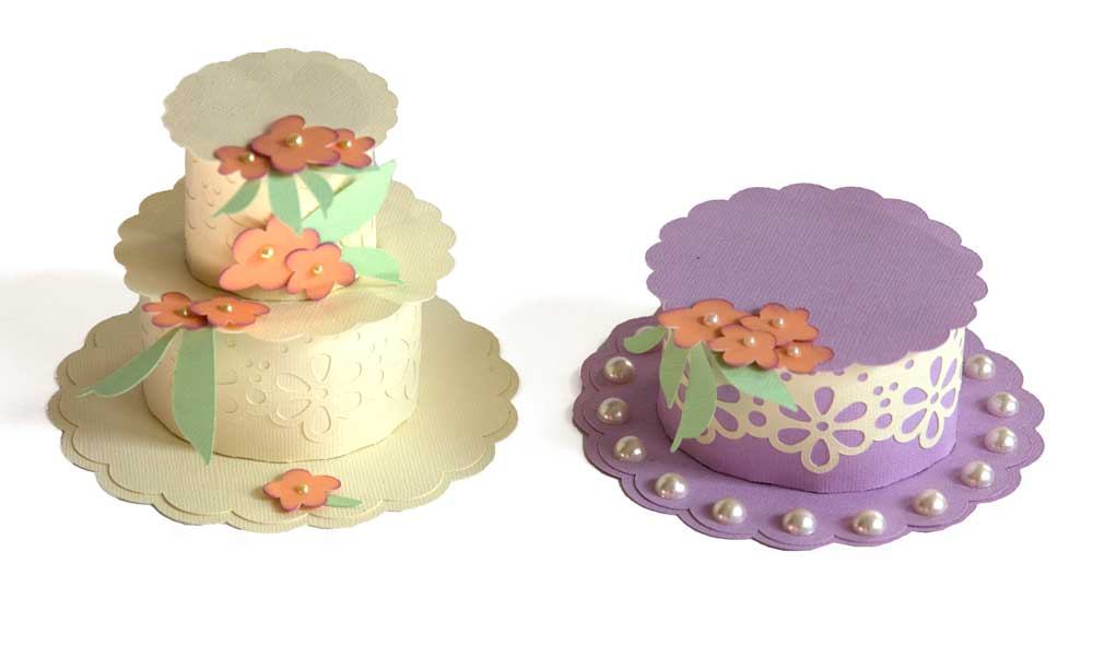 Dimensional spring hat and cake