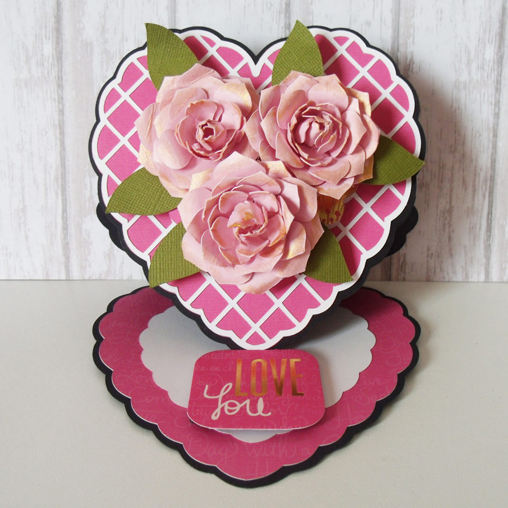 Heart Shaped Easel Card
