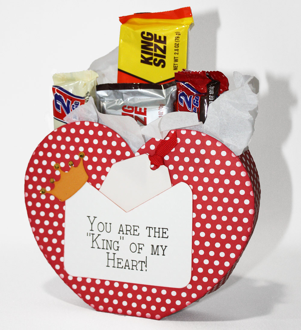 Heart Shaped King Valentine Box