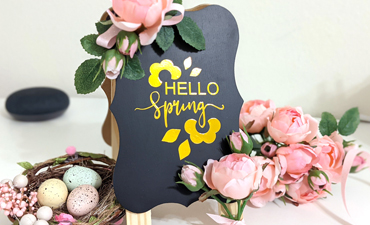 Hello Spring Cafe Sign