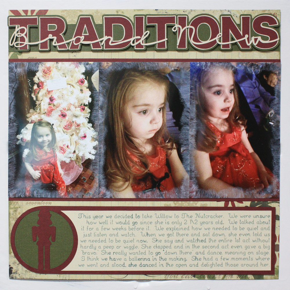 Holiday Traditions Scrapbook Layout